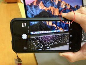 iPhoneのシャッター2