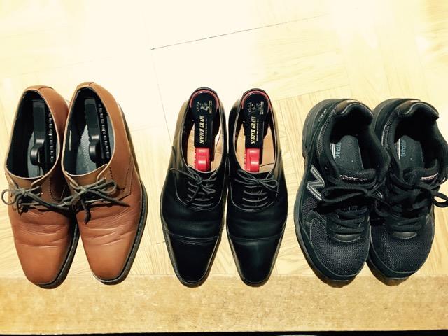 手持ちの靴