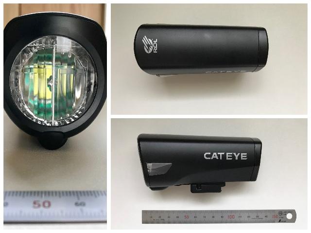 ロードバイクのフロントライト キャットアイ(CAT EYE) HL-EL540 外観