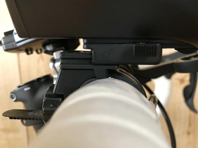 ロードバイクのフロントライト キャットアイ(CAT EYE) HL-EL540 取付