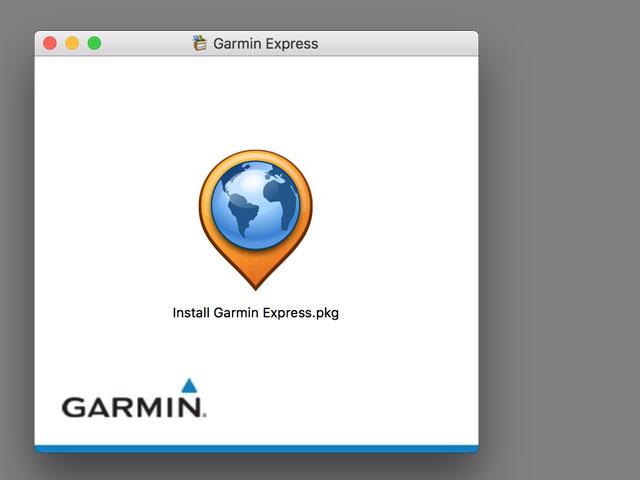 Garmin Express(ガーミンエクスプレス)をインストール