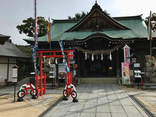 自転車神社(大山神社境内)