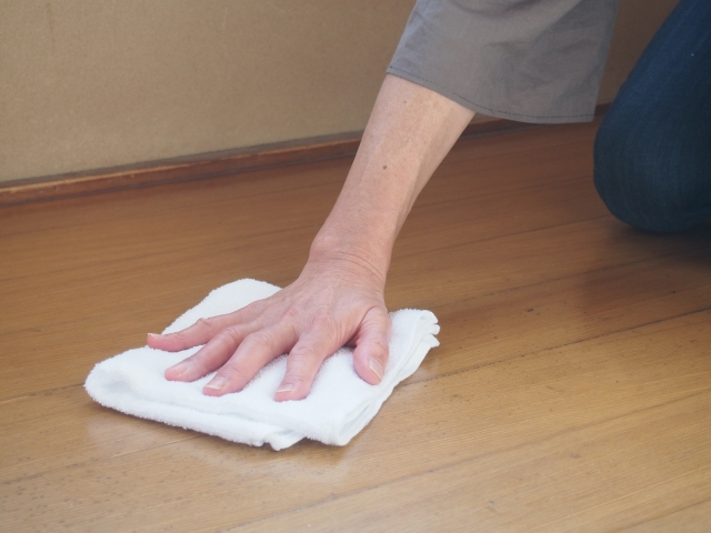 トレーニングの掃除
