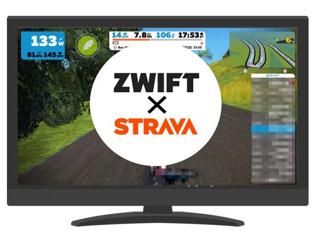 ZwiftとStravaの連携