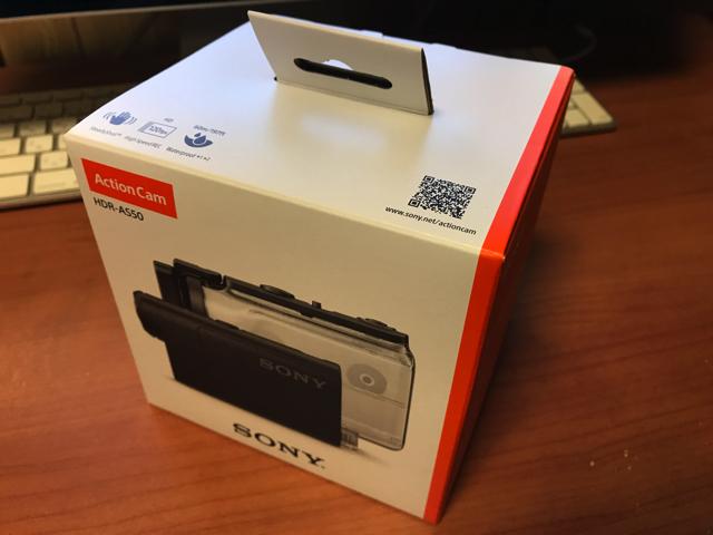 ソニー アクションカム HDR-AS50の箱