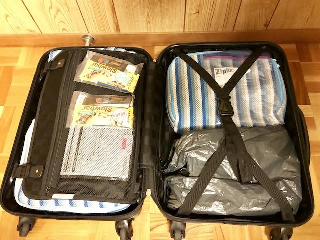 スーツケースにパッキング