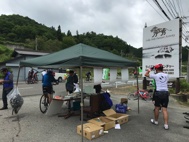 第4回白馬サイクルフェスタ CP 青木湖・ライオンアドベンチャー