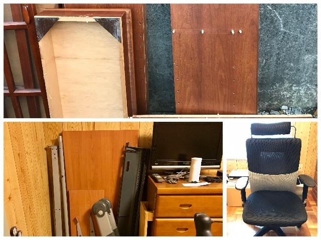 書棚とパソコンデスクの断捨離。解体