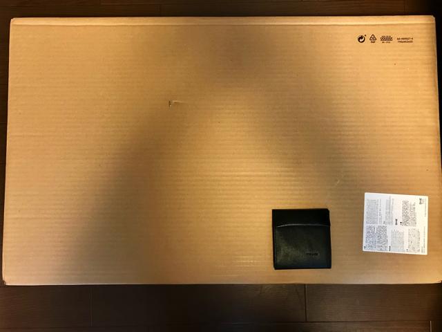 壁掛けデスクの設置。パッケージ