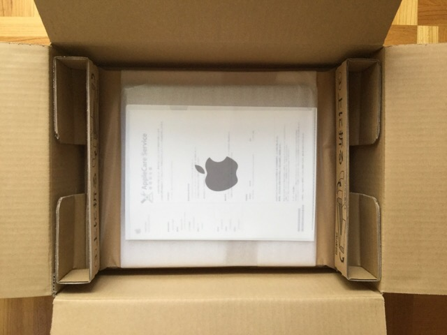 MacBook Proのバッテリー交換プログラム 開封