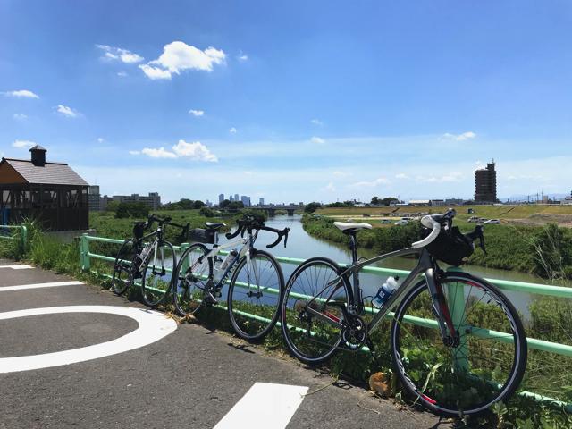愛知県をロードバイクで走ろう。 ゴール 水分橋東緑地