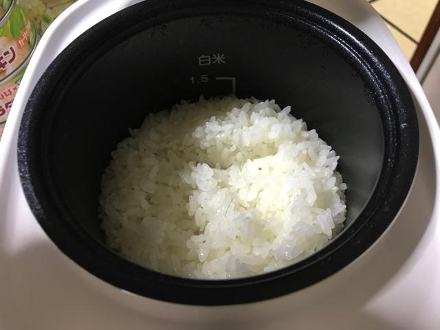 コイズミ ライスクッカーミニを使った感想 炊飯 炊き上がり