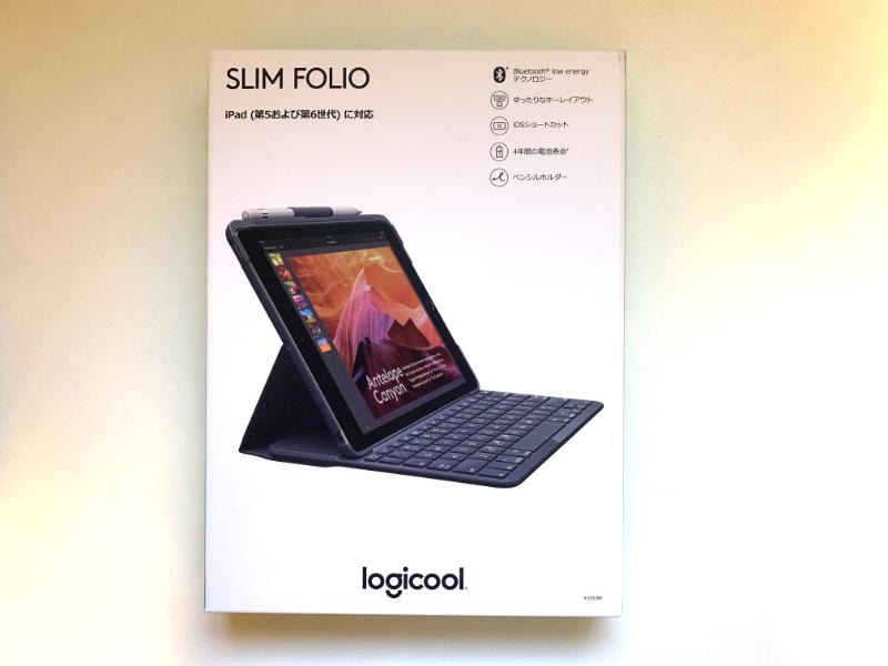 ロジクールの「SLIM FOLIO FOR IPAD Bluetooth対応キーボードケース(iK1053BK)」を購入。開封1