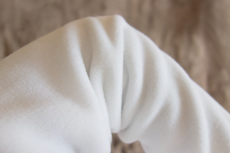 ユニクロのフリースフルジップジャケット(長袖)。腕
