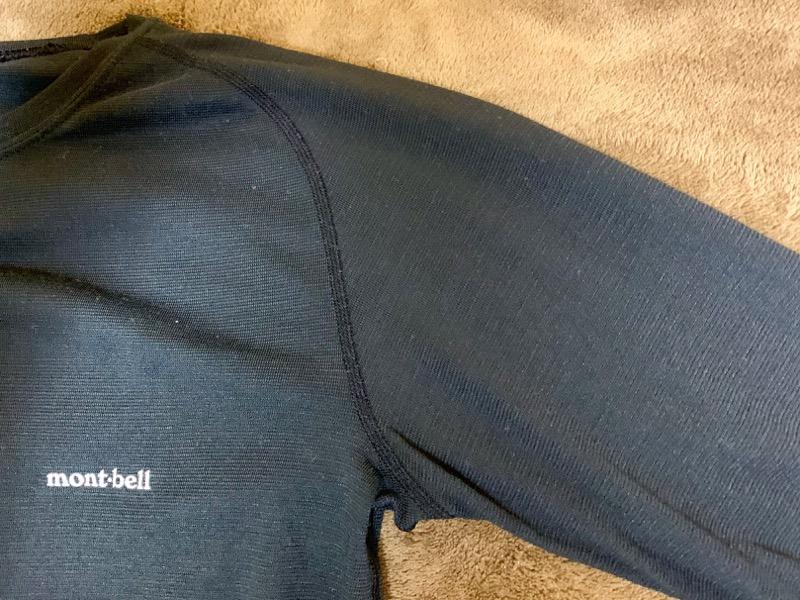 mont-bell(モンベル)のジオライン L.W. ラウンドネックシャツとタイツ Men's。外観