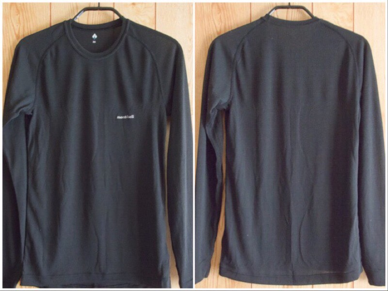 mont-bell(モンベル)のジオライン L.W. ラウンドネックシャツとタイツ Men's。シャツ