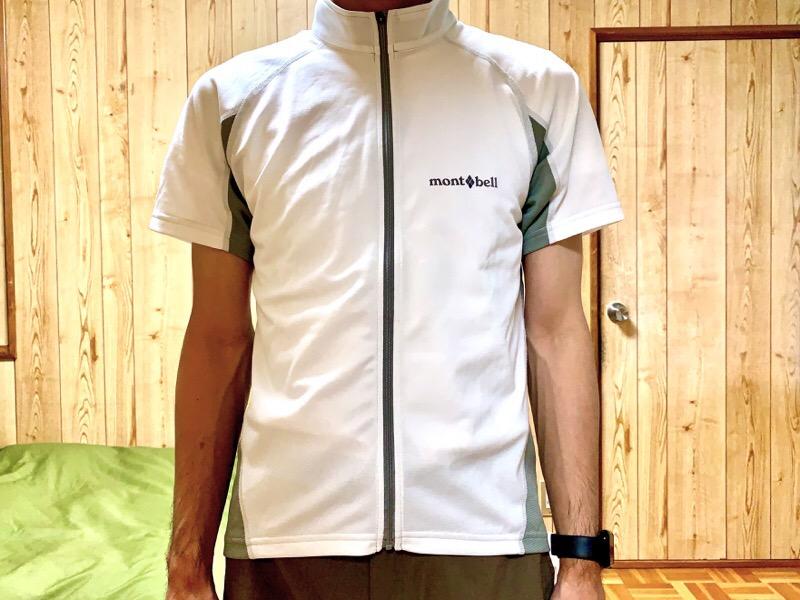 mont-bell(モンベル )サイクール ショートスリーブジップシャツ Men's。着用
