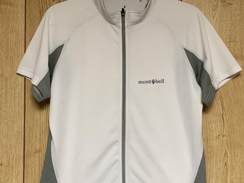 mont-bell(モンベル )サイクール ショートスリーブジップシャツ Men's。フロントジッパー