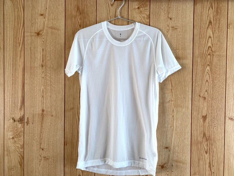 春夏のコーデ。ミニマリズムとアウトドアを意識した服装についてのまとめ。mont-bell(モンベル)ジオラインクールメッシュ Tシャツ Men's