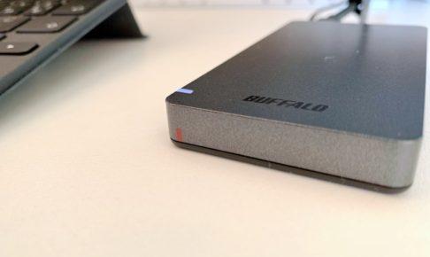 バッファロー(BUFFALO)の外付けSSD(SSD-PGM960U3-B)を購入。iPad Pro(第2世代)に接続した場合