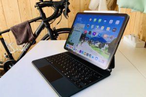 iPad Pro 11インチ(2020)を取り付けたMagic Keyboard